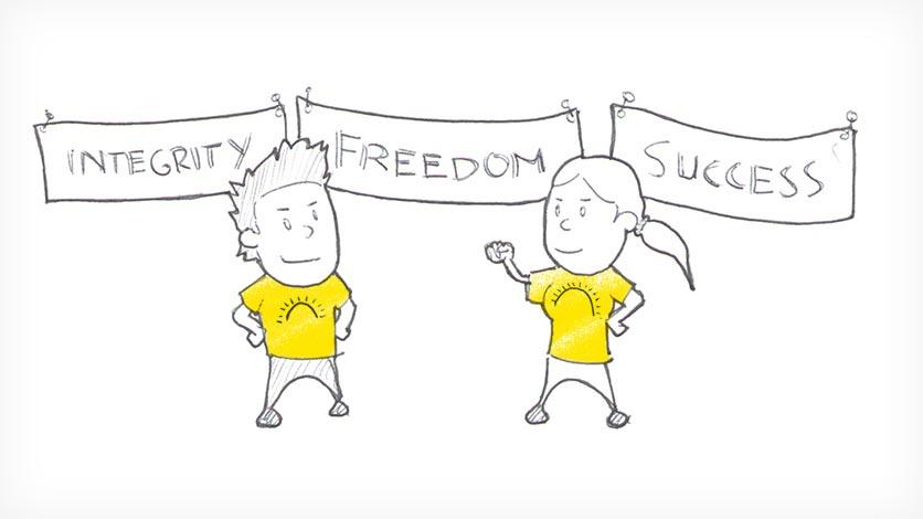Integrity. Freedom. Success.
